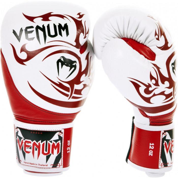 Боксерские перчатки Venum Tribal Boxing Gloves (EU-VENUM-07) Red/White 12 oz